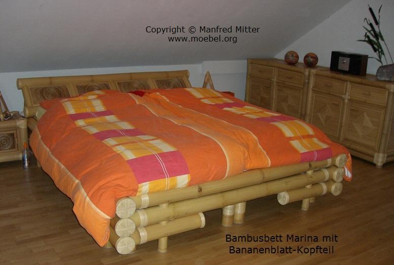 bambusbetten betten mit bananenblatteinlage am kopfteil. Black Bedroom Furniture Sets. Home Design Ideas