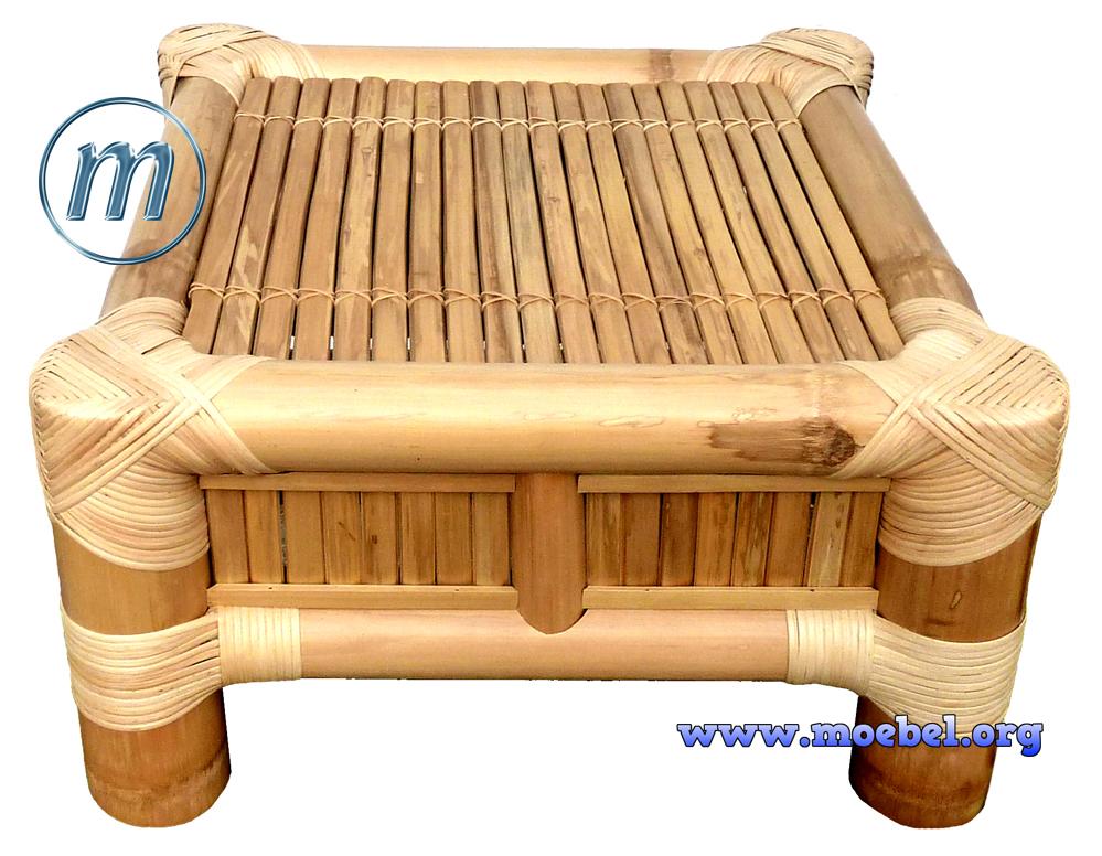 bambusm bel hocker und fu ablagen sitzgruppen sessel