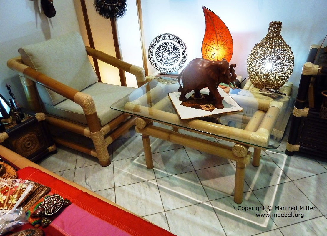 Wohnzimmertische aus Bambus, Couchtisch Open Top