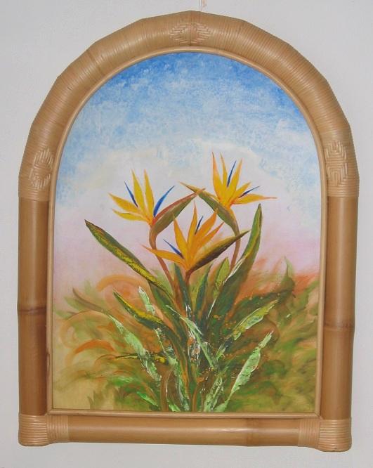 Bambusspiegel spiegel mit bambusrahmen bilderrahmen - Spiegel mit bambusrahmen ...