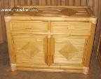 Kommode aus Bambus mit 2 Laden und 2 Türen