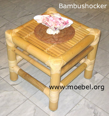 bambusm bel hocker beistelltisch podest aus bambus. Black Bedroom Furniture Sets. Home Design Ideas
