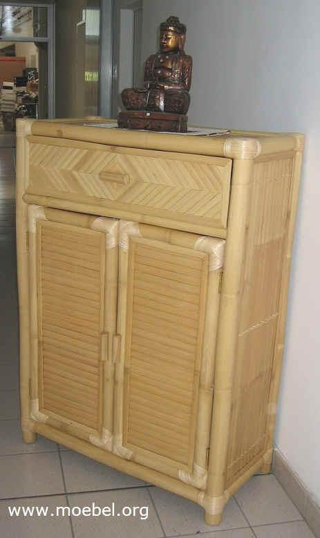 kommode mit 1 lade und 2 t ren bambusm bel. Black Bedroom Furniture Sets. Home Design Ideas