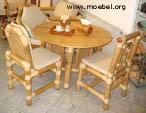 Esszimmermöbel aus Bambus, Tisch aus Bambus, Bambussessel