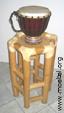 Warenpodest, Präsentiertisch oder Barhocker aus Bambus