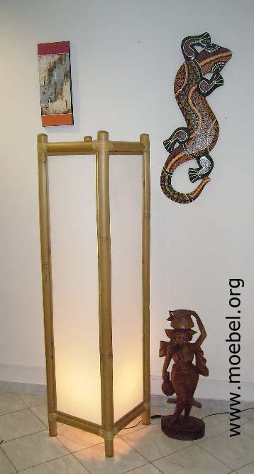 Bambuslampe stehlampe bodenlampe for Stehlampen designerlampen