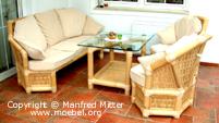 Sitzgruppe, Sofa, Sessel, Fauteuil aus Bambus