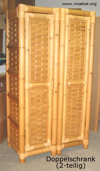 bambusschr nke kleiderschr nke aus bambus. Black Bedroom Furniture Sets. Home Design Ideas