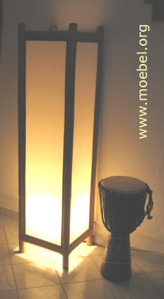 bambuslampe stehlampe bodenlampe. Black Bedroom Furniture Sets. Home Design Ideas