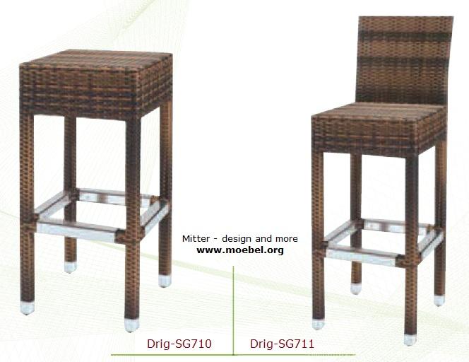 Wetterfeste Barhocker für den Außenbereich, Outdoor-Möbel
