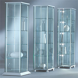 vitrine glasvitrine glas alu vitrine. Black Bedroom Furniture Sets. Home Design Ideas