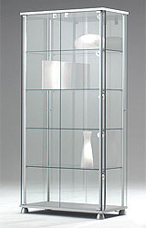 vitrine glasvitrine glas alu vitrine messevitrine. Black Bedroom Furniture Sets. Home Design Ideas
