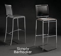 Barhocker / Tresenhocker mit Lehne