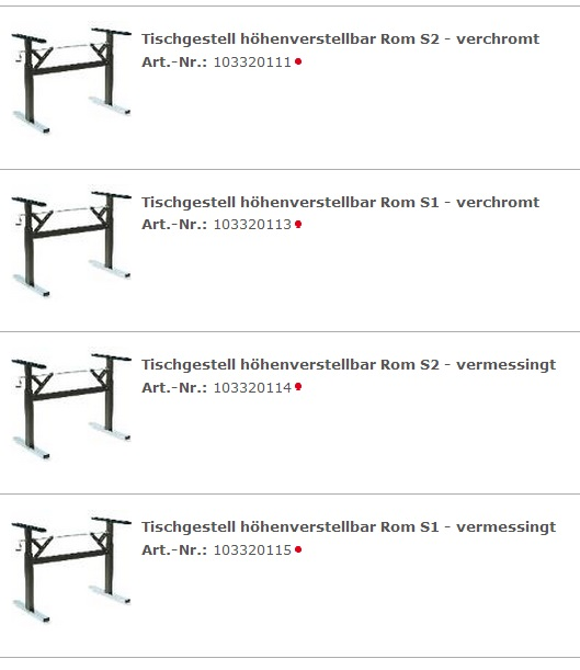 h henverstellbare tische tischgestelle. Black Bedroom Furniture Sets. Home Design Ideas